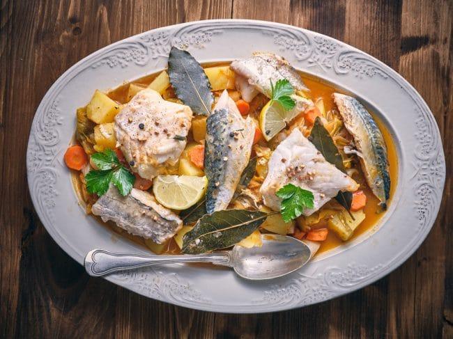 Recette de Cotriade Bretonne : La soupe de poisson typique