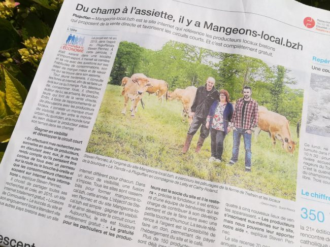 Un article dans le Ouest France ? Bah, la classe !