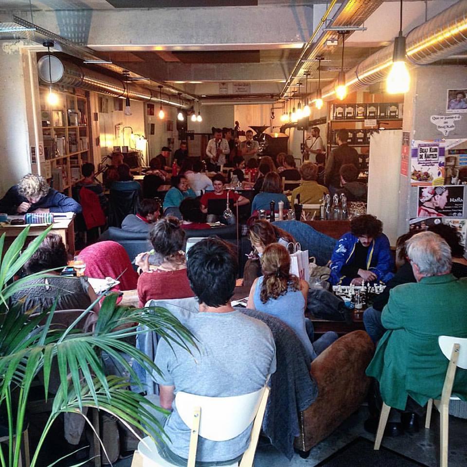 Marché de producteur à Brest, au BEAJ Kafé