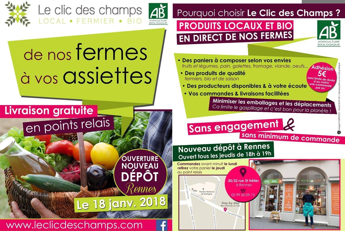 Le Clic des Champs : La boutique en direct des producteurs sur Rennes