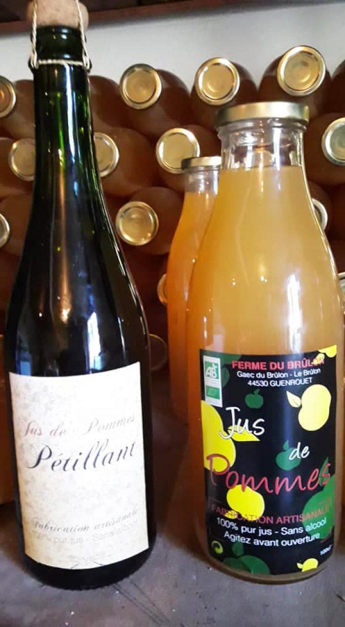 Ferme du Brulon - jus de pommes et pétillants