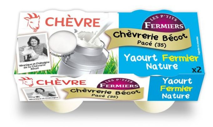 Chèvrerie Bécot - yaourts fermiers nature au lait de chèvre