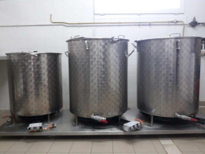 Brasserie Artisanale Bellouff - cuves de brassins