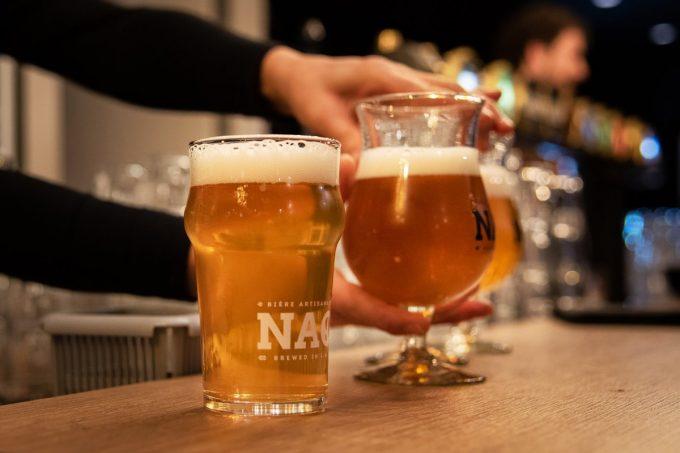 Brasserie NAO - bières en verre