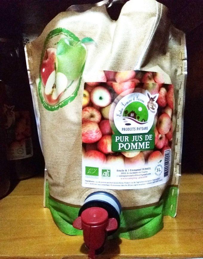 Entre Pomme et Sureau - pur jus de pomme bio en poche
