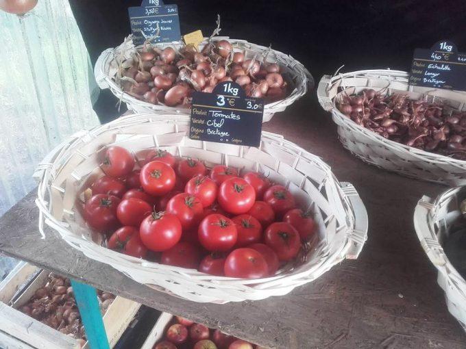 La Ferme de Saint Daniel - tomates et oignons