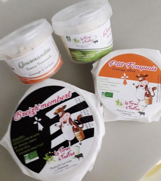 La Ferme à Fanfan - gamme de produits laitiers bio