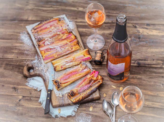 Le Jardin d'Édouard - vin rosé et tartelettes