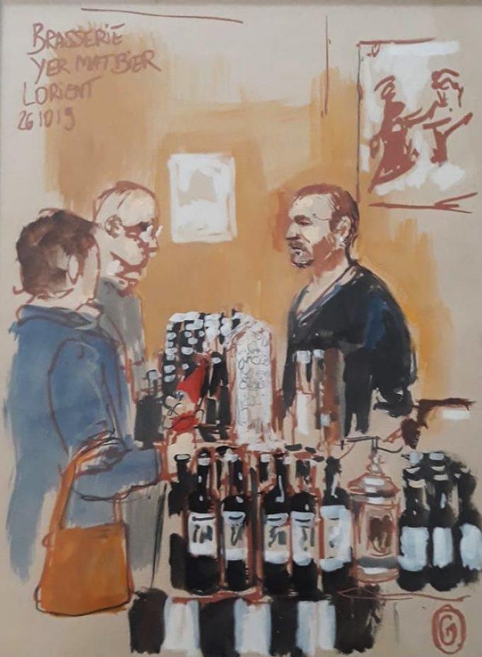 Brasserie Yermat Bier - illustration boutique