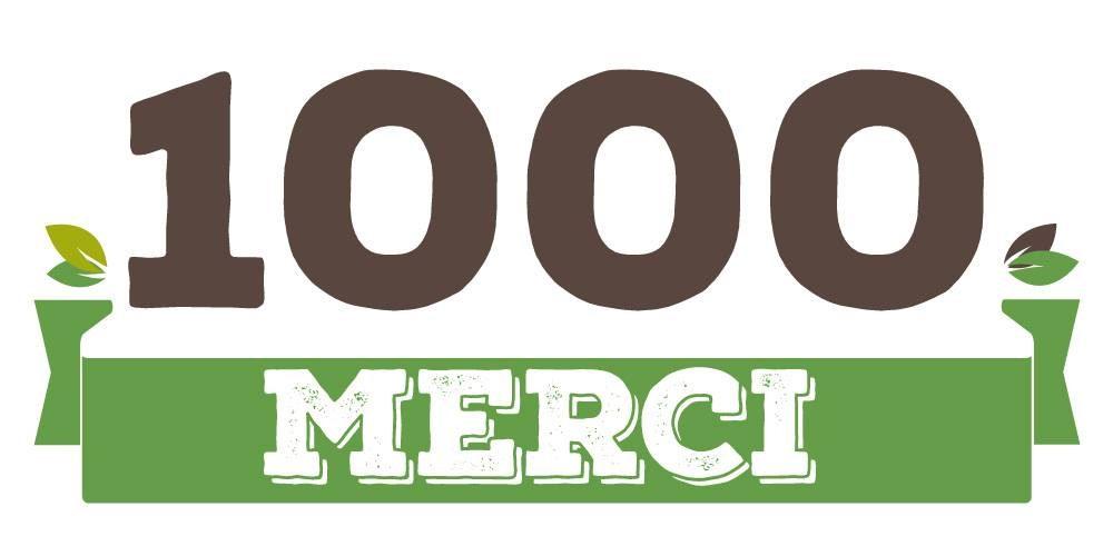 Nous sommes 1000 !