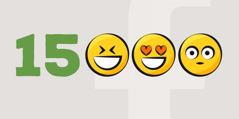 On est 15 000 sur Facebook !