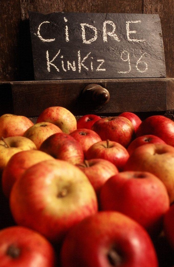 Pommes de la cidrerie du Manoir du Kinkiz