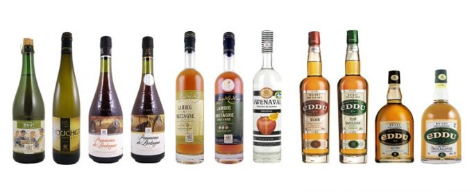 La gamme d'alcools et spiritueux de la distillerie