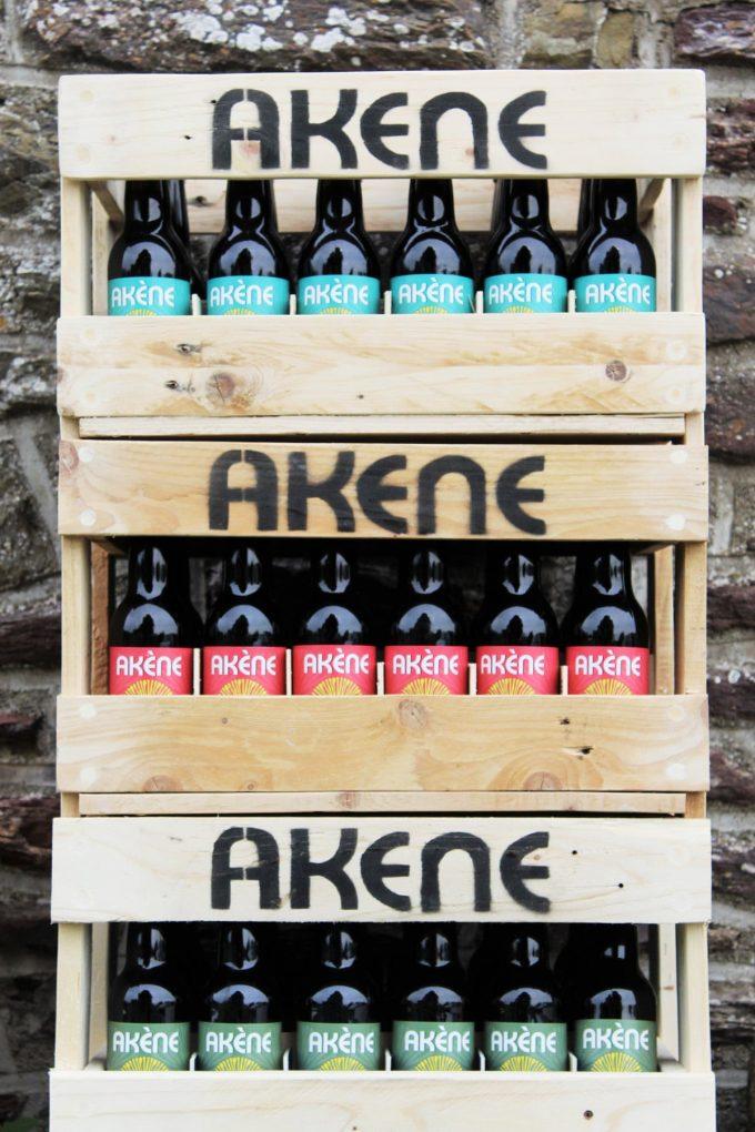 Micro-Brasserie Akène - Akène en caisses bois