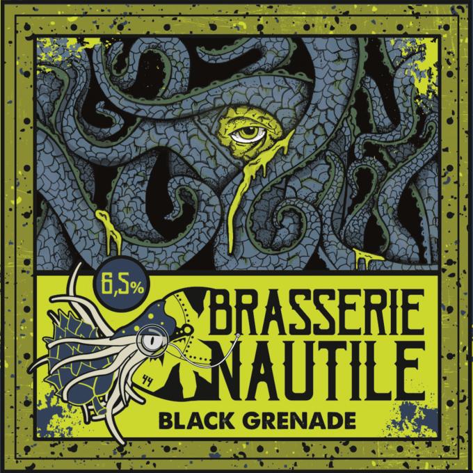 Brasserie Nautile - étiquette Black Greenade