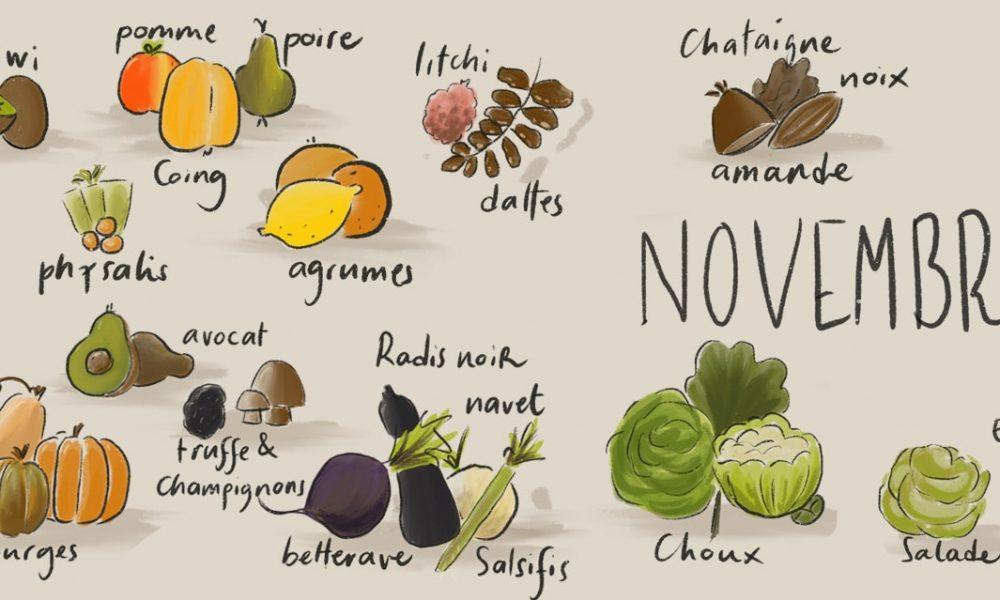 Novembre – Liste des fruits et légumes de saison
