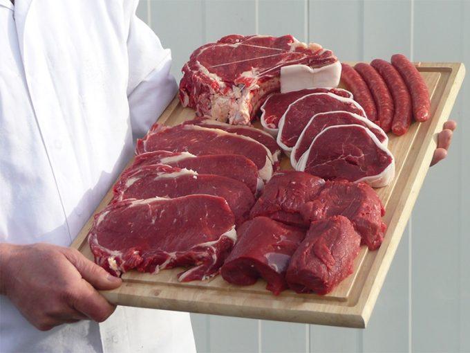Exemple de composition d'un colis de viande