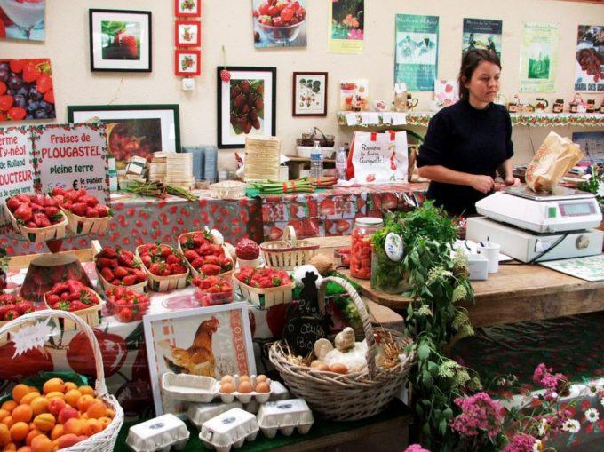 La vente des légumes frais