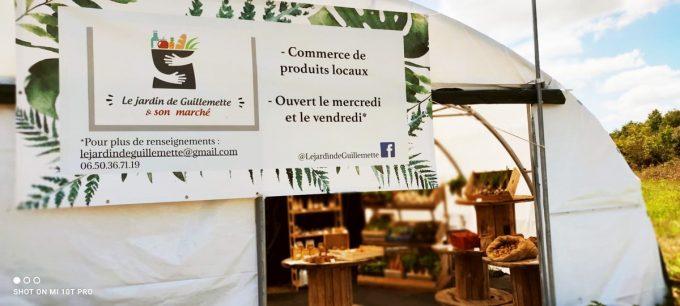 Le Jardin de Guillemette et son marché - entrée de serre