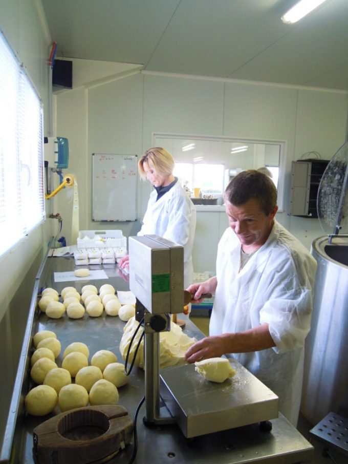 Production de beurre de baratte