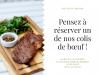Colis de viande sur réservation