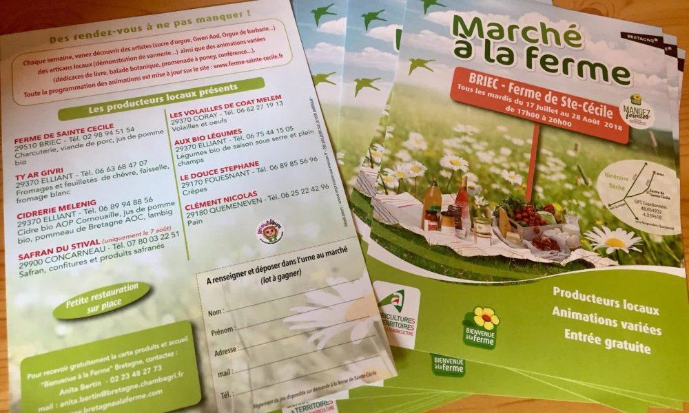Le Marché de la Ferme Sainte Cécile à Briec : On a testé !