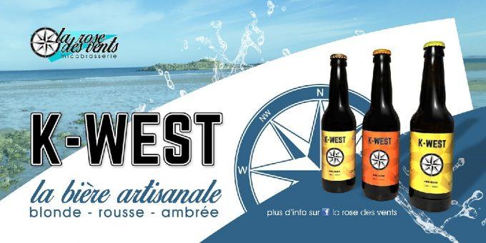 Micro Brasserie la Rose des Vents - trois bières artisanales bio K West