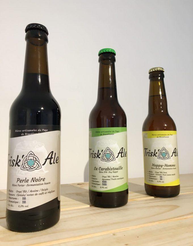 Brasserie Trisk'Ale - Perle noire, carabistouille et hammy homme