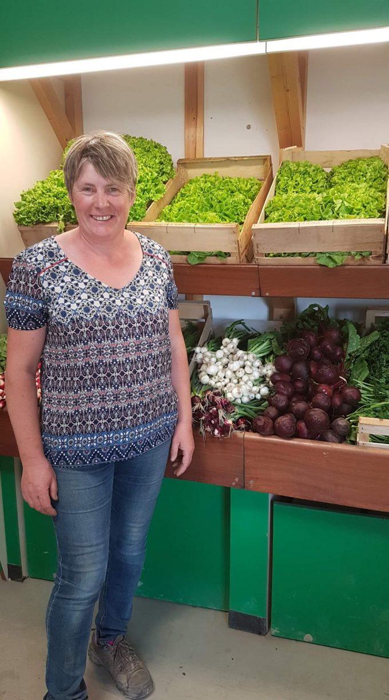 Vente de légumes frais à la ferme