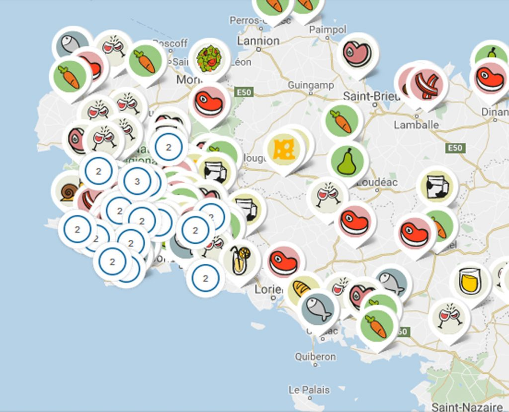 carte interactive de producteurs locaux