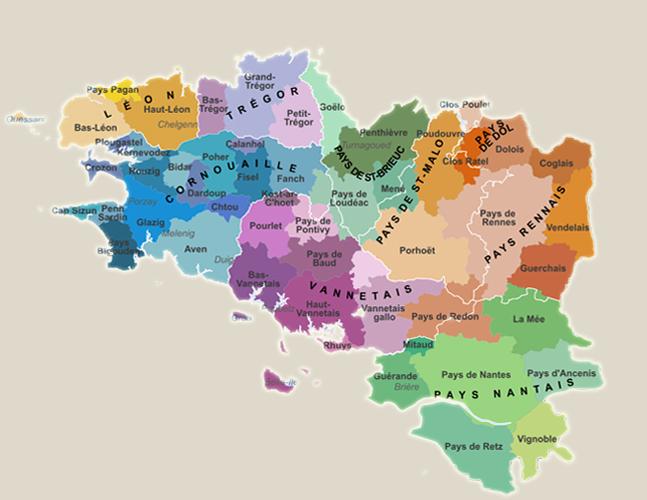 La Bretagneet ses Neuf Pays Historiques