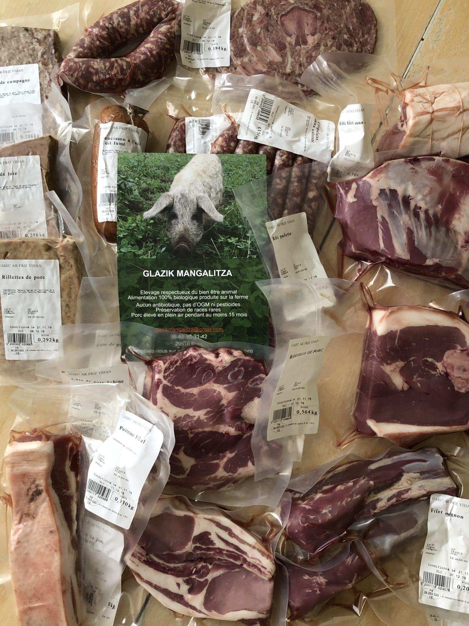 Colis de viande de porc en vente directe : à quoi s'attendre ?
