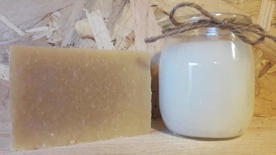 Savons bretons au lait d'ânesse, de La P'tite Ferme de Mélie.