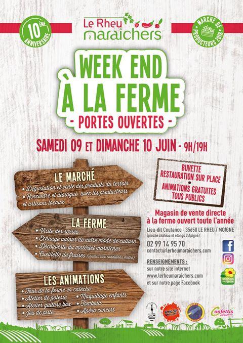 """Portes Ouvertes à """"Le Rheu maraichers"""" le Samedi 09 et 10 juin !"""