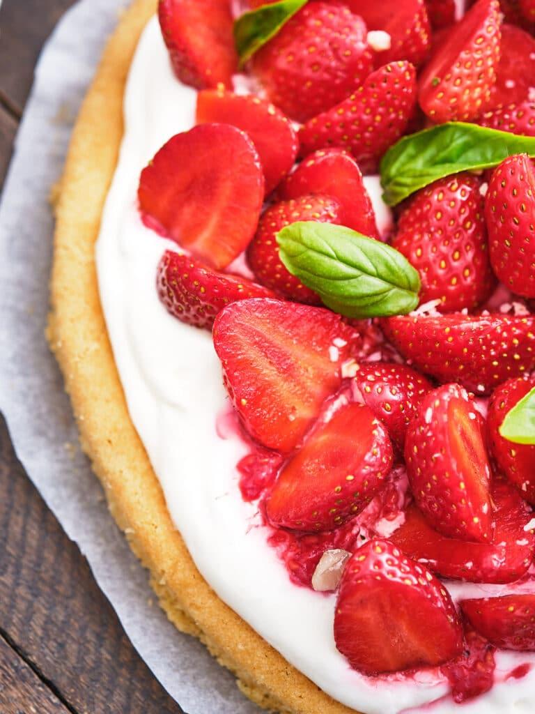 Tarte aux fraises sur sablé breton - La Recette !